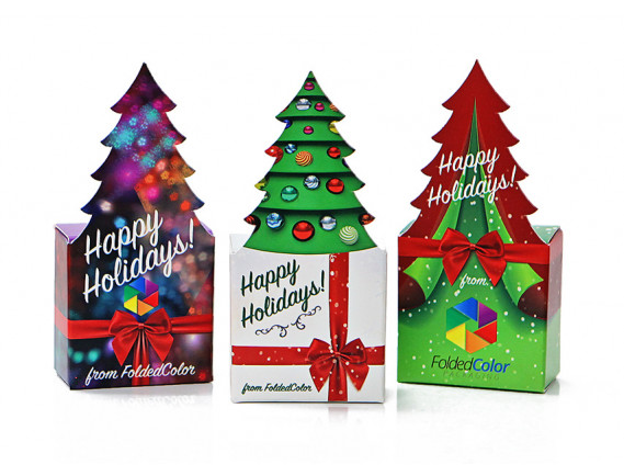 Custom Printed Holiday Tree Box