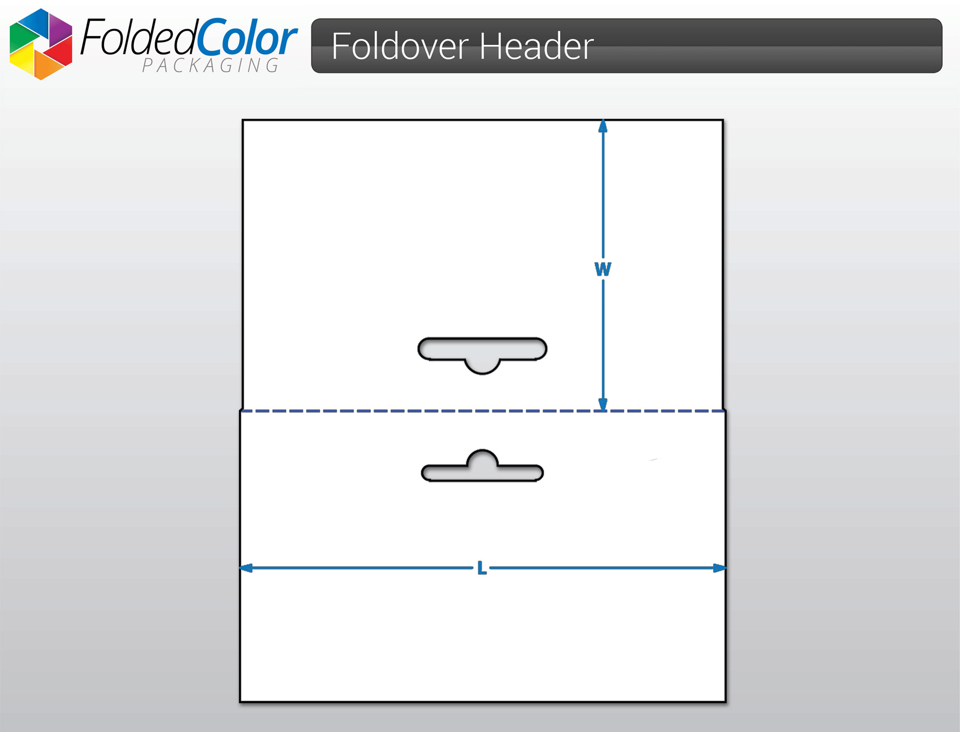 Create Your Own Custom Size Foldover Header Cards