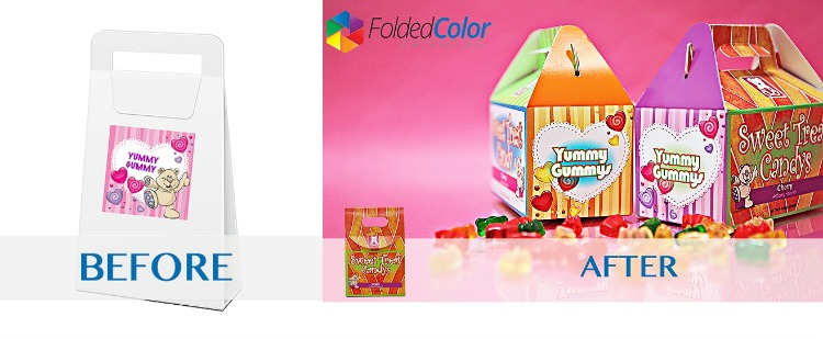 Candy Box Bag FoldedColor