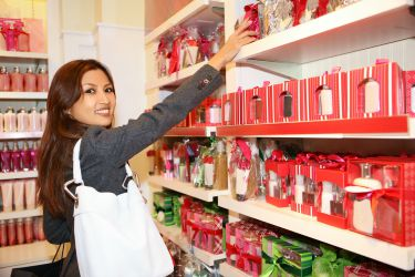 Woman shopping for holiday products
